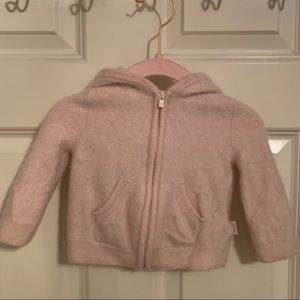Baby gap pale pink cashmere bunny ear hoodie